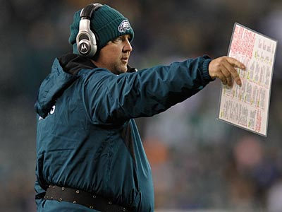 Eagles offensive coordinator Marty Mornhinweg is scheduled to interview for a head coaching job with the Raiders. (Michael Perez/AP file photo)
