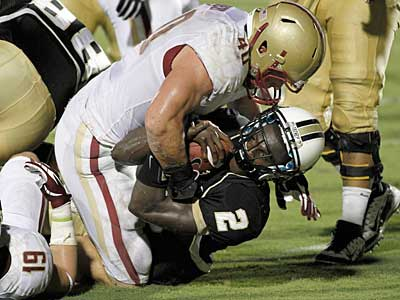Boston College linebacker Luke Kuechly could be an option for the Eagles with the 15th pick. (Reinhold Matay/AP)