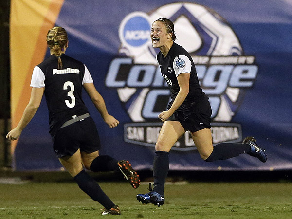 Christine Nairn helped lead Penn State´s women´s soccer team to the championship game of this past season´s College Cup. (Gregory Bull/AP file photo)