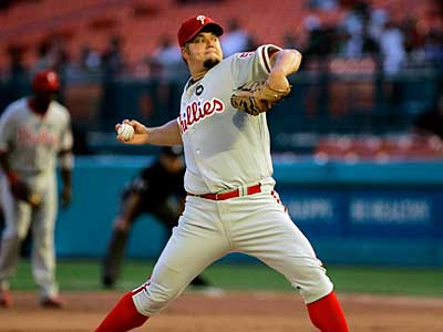 Joe Blanton is asking for $10.25 million while the Phillies have offered $7.5 million. (AP File Photo)