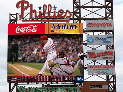 The first opportunity for fans to see the new videoboard in action will be March 29. (Artist rendering from the Phillies)