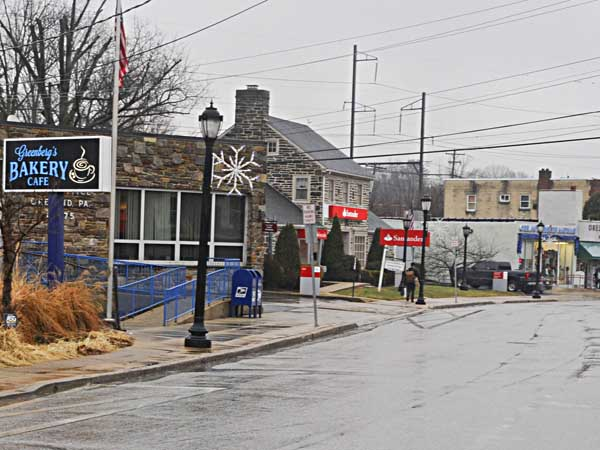Businesses along Bruce Rd. in Oreland. ( RON TARVER / Staff Photographer ) January 14, 2014