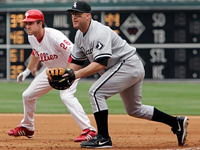 Jim Thome´s last start at first base was in 2007 as a member of the White Sox at Citizens Bank Park. (George Widman/AP)