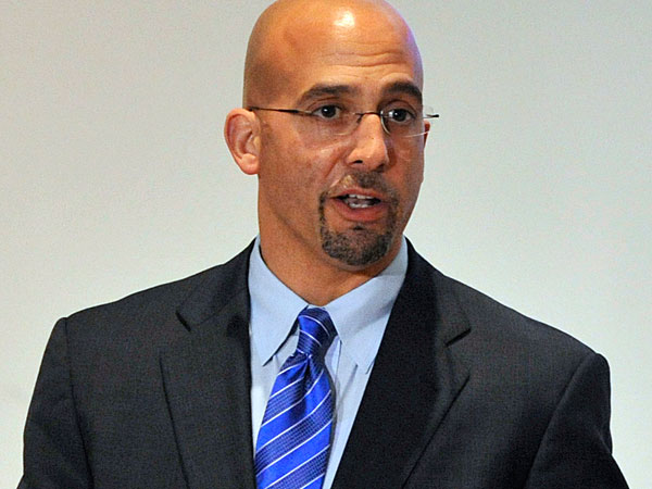 Penn State football coach James Franklin. (AP<br />Photo/Centre Daily Times, Nabil K. Mark)