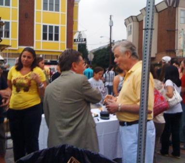 Fumo (right) with Councilman Frank DiCicco.