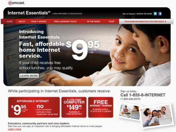 comcast internet essentials earns mixed report card