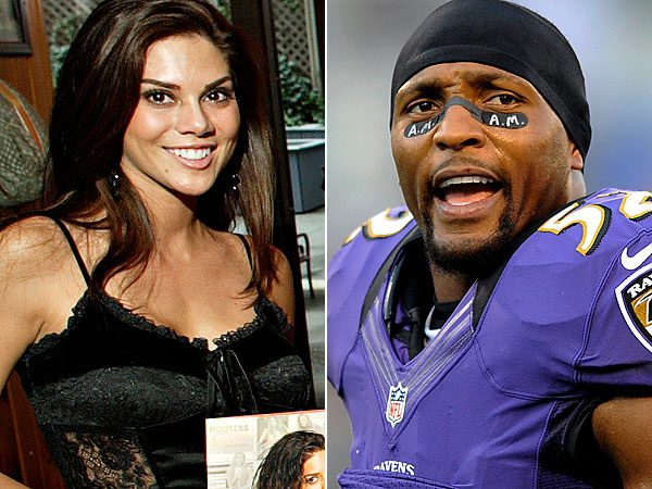 Anna Burns-Welker and Ray Lewis (AP Photos)