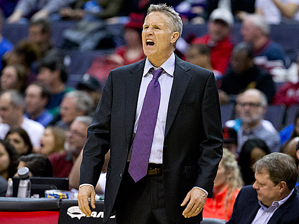 76ers head coach Brett Brown. (Evan Vucci/AP)