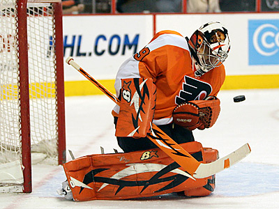 Ray Emery has been placed on long-term injured reserve by the Flyers. (Yong Kim / Staff Photographer)