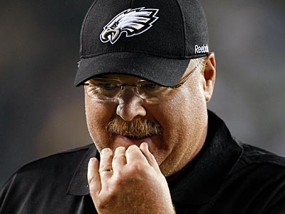 With Andy Reid back from vacation, will the search for a defensive coordinator pick up steam? (David Maialetti/Staff file photo)