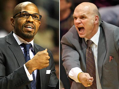 Penn coach Jerome Allen and St Joseph´s coach Phil Martelli lead their teams into a Big 5 showdown. (Staff Photos)