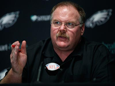Andy Reid and the Eagles need to find a new defensive coordinator to replace Sean McDermott. (Matt Slocum/AP)