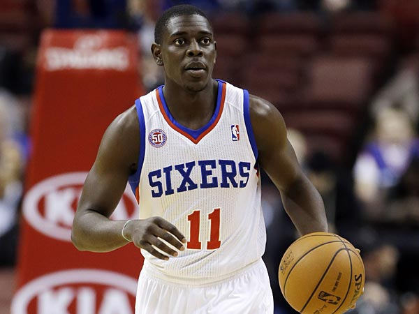 Philadelphia 76ers´ Jrue Holiday in action during an NBA basketball game against the New Orleans Hornets, Tuesday, Jan. 15, 2013, in Philadelphia. (AP Photo/Matt Slocum)