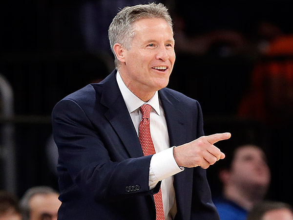 76ers coach Brett Brown. (Frank Franklin II/AP)