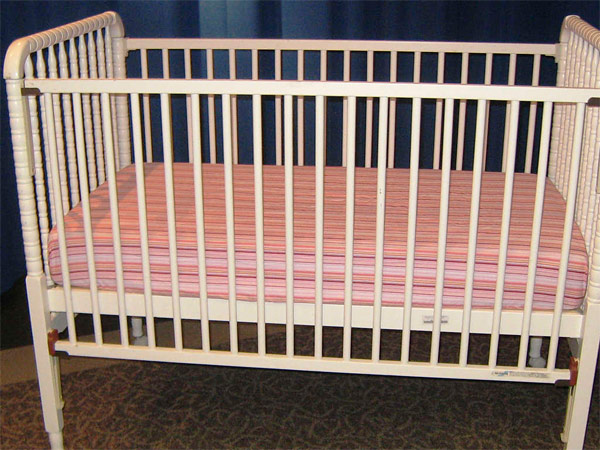 The drop-side Delta crib was voluntarily recalled in 2010 due to entrapment, suffocation, and fall hazards. Safety is more important than free furniture from family.