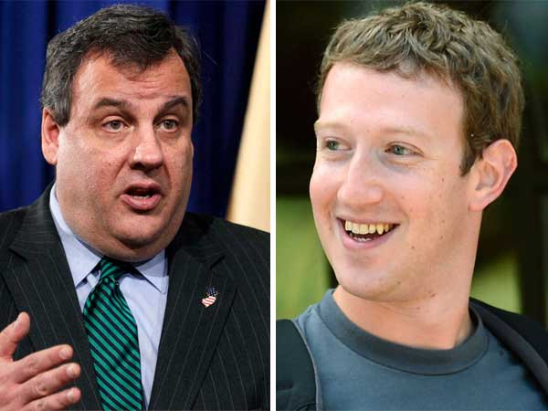 Facebook founder Mark Zuckerberg will host a political fundraiser for New Jersey Gov. Chris Christie.  (AP Photos)