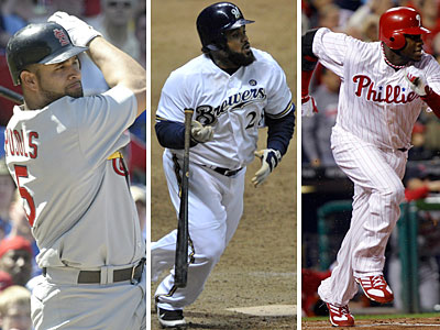 Ryan Howard has less competition as the top first basemen in the NL with Albert Pujols and Prince Fielder now in the AL. (AP file photos)