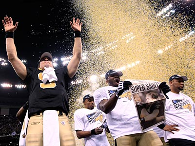 The Saints defeated the Vikings 31-28 to advance to the Super Bowl against the Indianapolis Colts. (AP Photo/David J. Phillip)