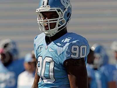Could the Eagles target North Carolina DE Quinton Coples in the first round? (Gerry Broome/AP file photo)