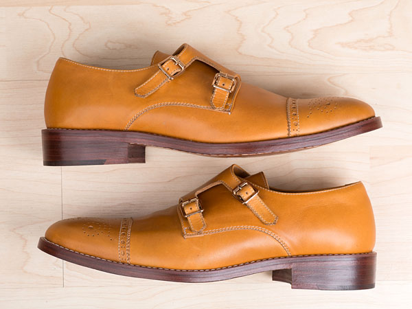 """The Men´s Style Pro x Mantorii Limited Edition Double Monk Strap shoe. Buyers can receive an additional 15 percent discount by using the code """"mensstylepro"""" through the end of January."""