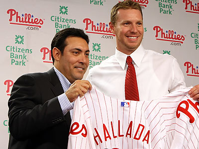 """I´m excited to see him work,"" Chase Utley said of the Phillies´ trade for Roy Halladay. (Steven M. Falk/Staff file photo)"