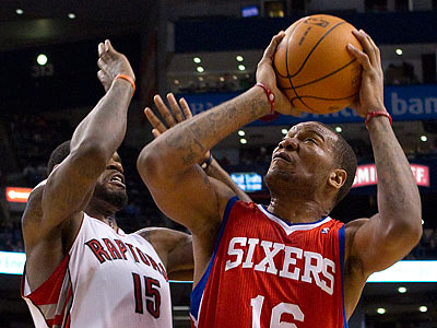 The Sixers did not pull the trigger on a trade involving Marreese Speights. (Chris Young/AP Photo)