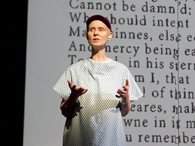 "Cynthia Nixon as the cancer patient in Broadway´s ""Wit""."