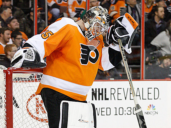 Flyers goalie Steve Mason. (Chris Szagola/AP)