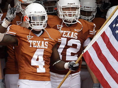 Texas cornerback Aaron Wiliams could be available when they Eagles pick in the first round. (AP Photo/Eric Gay)
