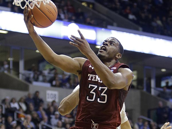 Temple made the biggest climb, moving up two spots to No. 2 after sweeping Charlotte and Dayton last week. (Al Behrman/AP)