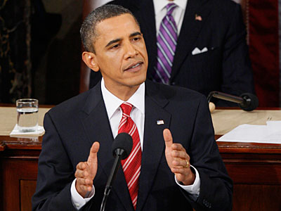 President Barack Obama delivers his State of the Union address on Capitol Hill. (AP Photo/Charles Dharapak)