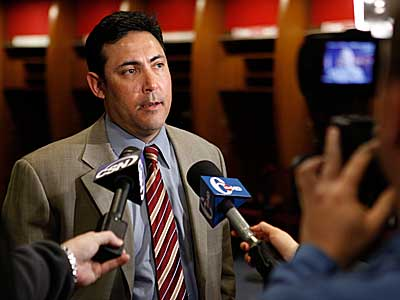 Philadelphia Phillies general manager Ruben Amaro Jr. makes remarks during a news conference. (AP Photo / Matt Rourke)