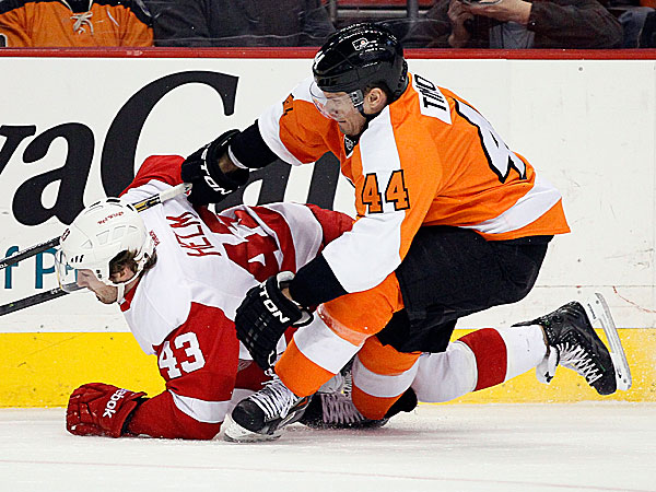 Flyers defenseman Kimmo Timonen. (Tom Mihalek/AP)