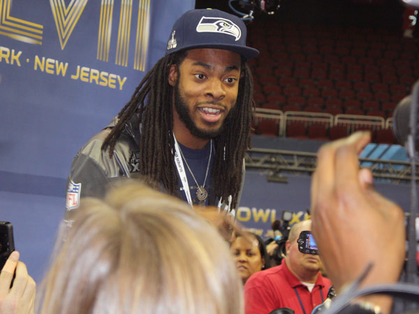 Seattle´s Richard Sherman may have changed a few opinions Tuesday. (Matt Romanoski/philly.com)