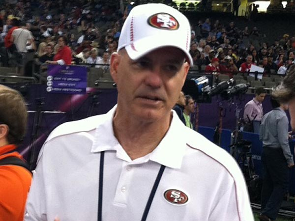 San Francisco 49ers secondary coach Ed Donatell. (Les Bowen/Staff)