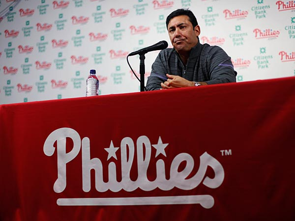 Phillies´ GM Ruben Amaro has taken some risks this offseason. (AP Photo/Matt Rourke)