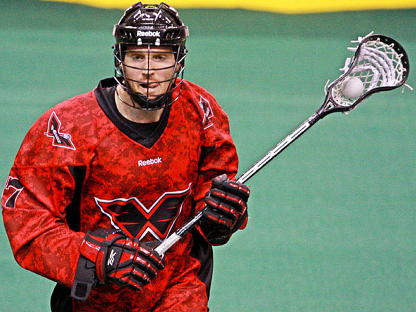 Wings captain Brodie Merrill moves with the ball during the Wings´ 16-8 loss to the Calgary Roughnecks Sunday at the Wells Fargo Center. (Wings photo)