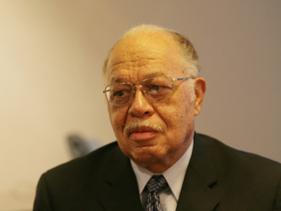 A file photo of Kermit Gosnell, who is charged with murder related to his work at his abortion clinic in West Philadelphia.  He asked a judge today for a public defender and said he was destitute.  The judge did not grant the request.  (Yong Kim / Staff Photographer)