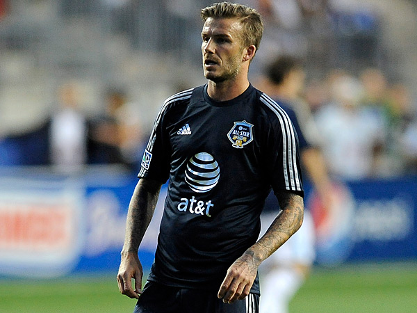 David Beckham has retired after an 11-year career that included five seasons with the Los Angeles Galaxy. His last appearance in Philadelphia was the 2012 Major League Soccer All-Star Game at PPL park. (Michael Perez/AP file photo)
