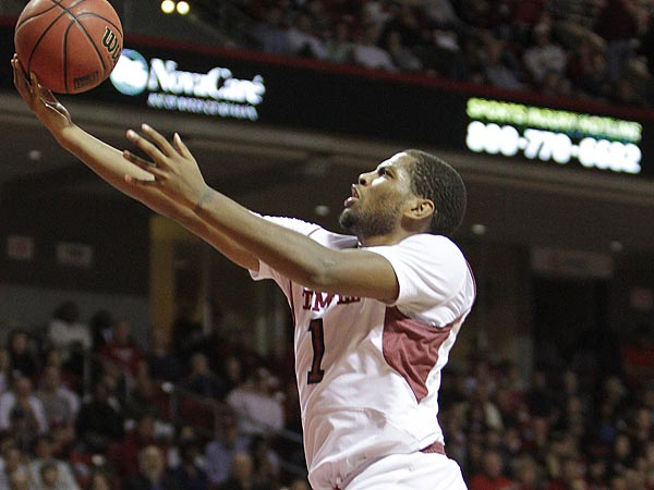Temple&acute;s Khalif Wyatt goes up for a shot against Richmond during the<br />first half at The Liacouras Center in Philadelphia, Wednesday, January 30, 2013. (Steven M. Falk / Staff Photographer)