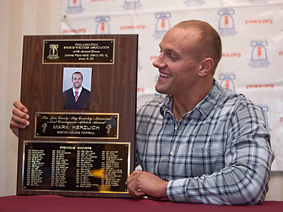Mark Herzlich was an all-state player at Conestoga High before joining the Giants. (David M Warren/Staff Photographer)