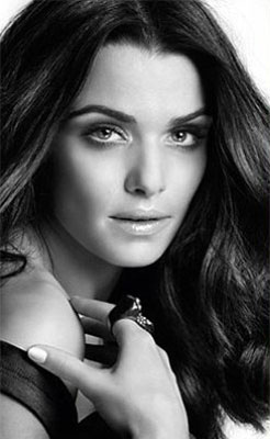 The offending ad image of Rachel Weisz.