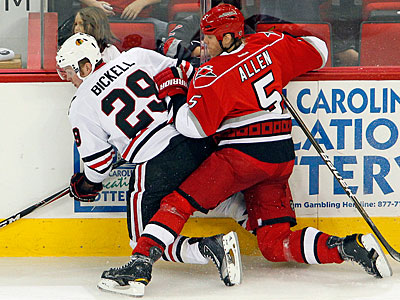 Hurricanes defenseman Bryan Allen is on the Flyers radar. (Karl B. DeBlaker/AP)