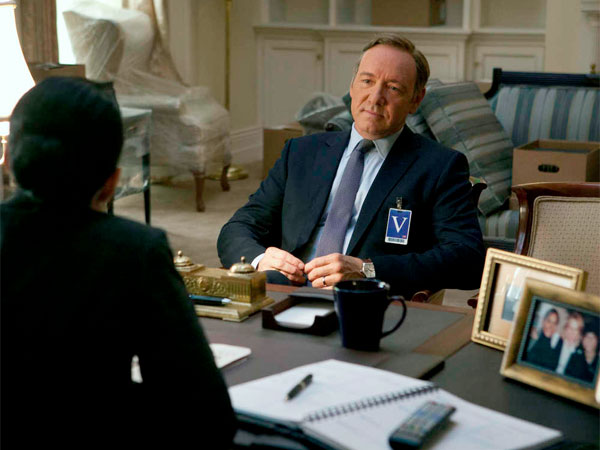 "Spacey portrays a House majority whip in ""House of Cards"" what he describes as ""sort of the new television series that isn´t on television."""