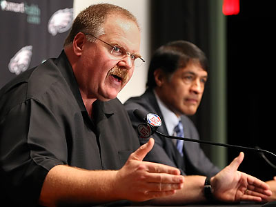 """It took a little bit of time to get the pieces together,"" Andy Reid said of his decision-making process. (Steven M. Falk/Staff Photographer)"