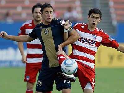 Kyle Nakazawa was one of the Union´s picks in its inaugural SuperDraft two years ago. (Tony Gutierrez/AP file photo)