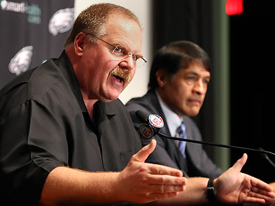 """We'll just have to accelerate,"" said Eagles coach Andy Reid on resuming once the lockout is lifted. (Steven M. Falk/Staff File Photo)"