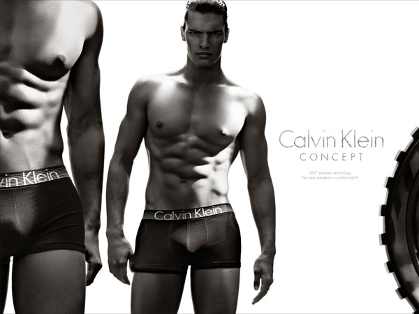 Calvin Klein Underwear Spring 2013 advertising campaign that debuted during Super Bowl XLVII featuring Matt Terry. (Photo by Steven Klein, Calvin Klein)