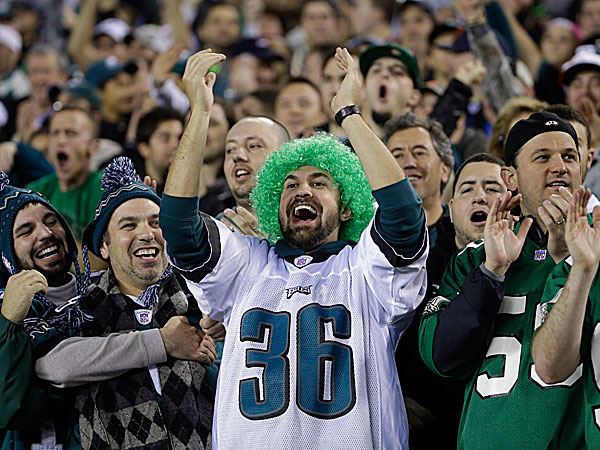 Eagles fans cheer. (Matt Rourke/AP)