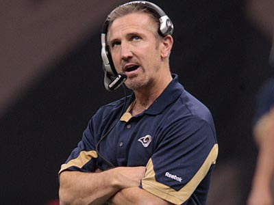 Former Eagles assistant Steve Spagnuolo is 10-34 in three seasons as head coach of the Rams. (Bill Haber/AP file photo)